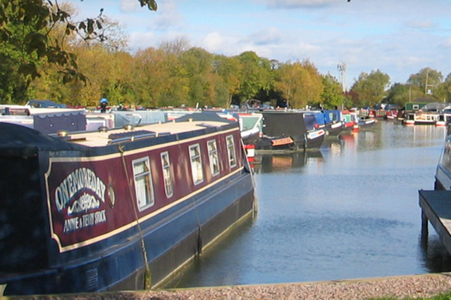 Canal Boats Moored at Gayton